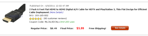 TTV Top Value: HDMI Cables